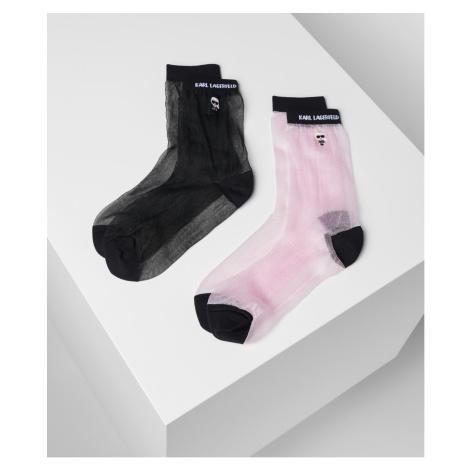 Ponožky Karl Lagerfeld K/Ikonik Transparent Socks 2Pk