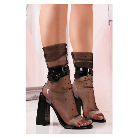 Čierne sandále Noira Sergio Todzi