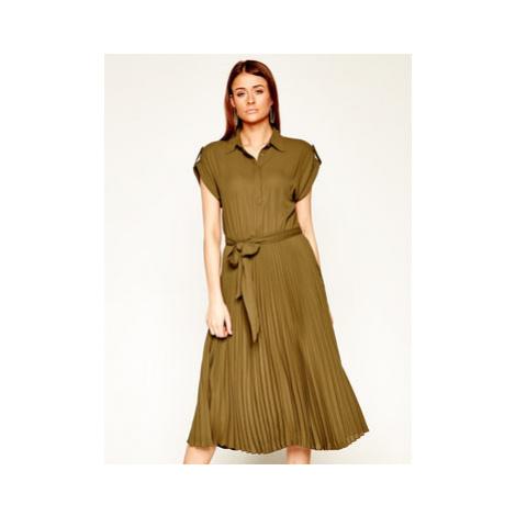 Lauren Ralph Lauren Košeľové šaty 200794828 Zelená Regular Fit