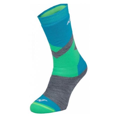 Nordica FREESKI BASIC BOY zelená - Chlapčenské lyžiarske ponožky