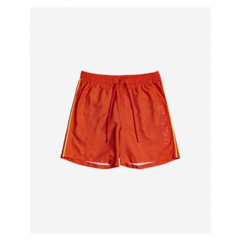 Oranžové chlapčenské kúpacie šortky