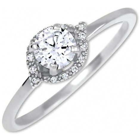 Brilio Očarujúce zásnubný prsteň z bieleho zlata 001 07 mm