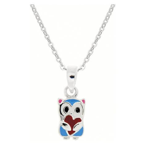 Praqia Detský strieborný náhrdelník Medvedík KO8059_BR030_40_RH (retiazka, prívesok)