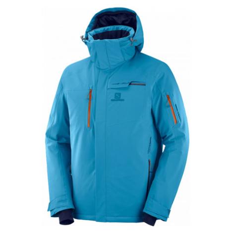 Salomon BRILLIANT JKT M modrá - Pánska lyžiarska bunda