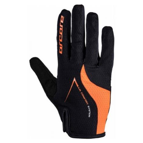Arcore HIVE oranžová - Dlhoprsté cyklistické rukavice