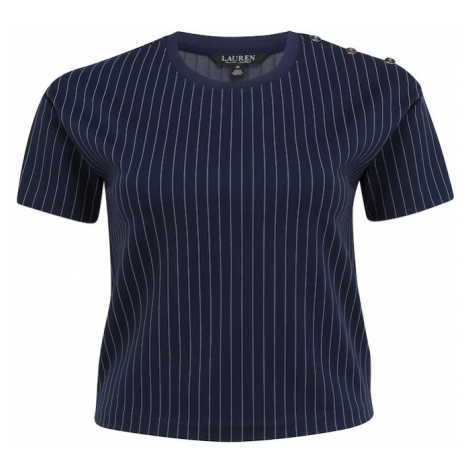 Lauren Ralph Lauren Tričko 'FREYA'  námornícka modrá / biela