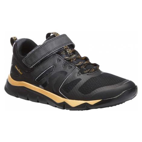 NEWFEEL Detská obuv PW 540 na športovú chôdzu čierno-zlatá ČIERNA 35