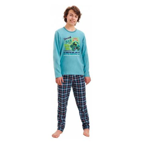 Chlapčenské pyžamo Leo cross modré Taro