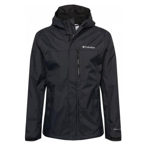 COLUMBIA Športová bunda 'Pouring Adventure'  čierna / biela
