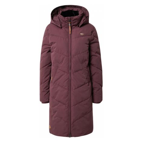Ragwear Zimný kabát 'Rebelka'  vínovo červená