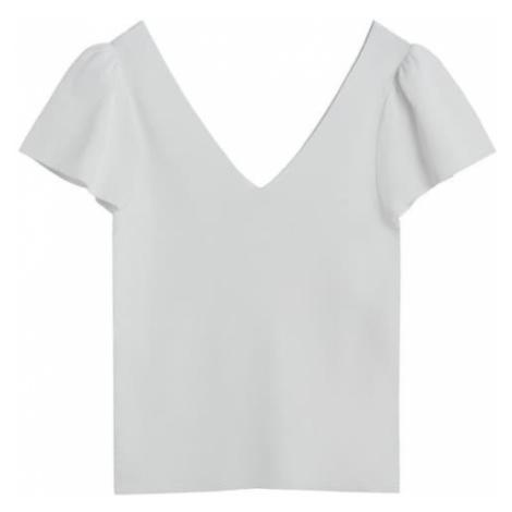 MANGO Tričko  biela