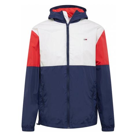 Tommy Jeans Prechodná bunda  biela / námornícka modrá / červená Tommy Hilfiger