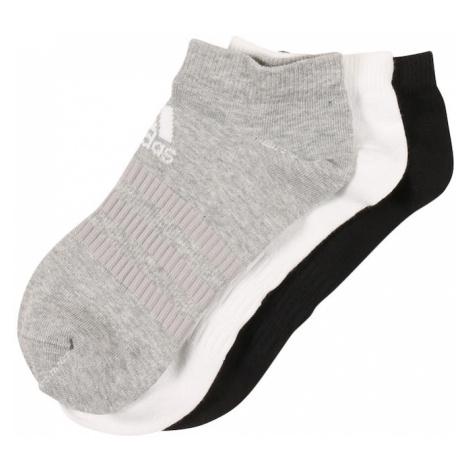 ADIDAS PERFORMANCE Športové ponožky  čierna / biela / sivá melírovaná