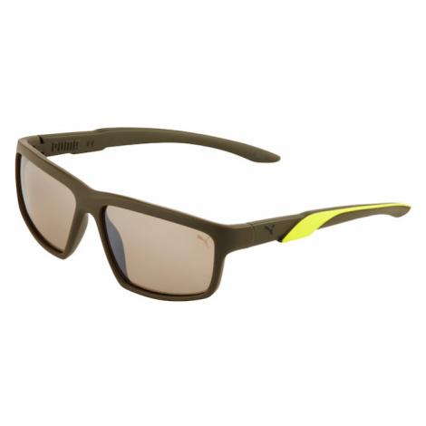 PUMA Slnečné okuliare 'INJECTION'  hnedá / žltá