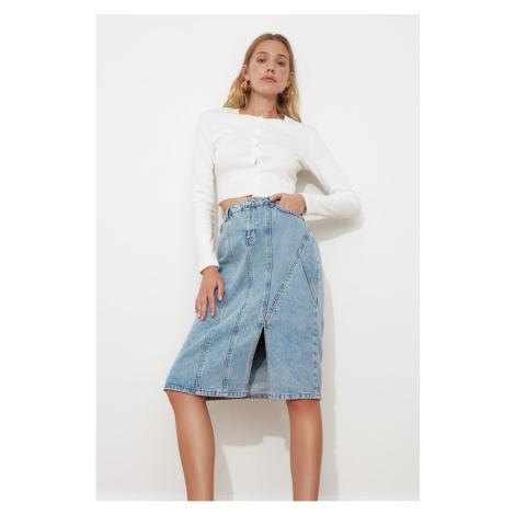 Trendyol Midi Denim Skirt