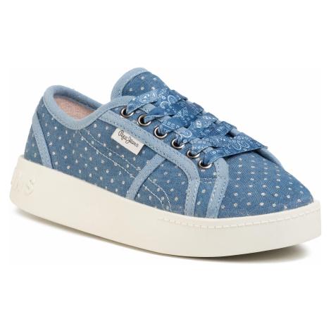 Sneakersy PEPE JEANS - Brixton Denim PGS30430 Denim 000
