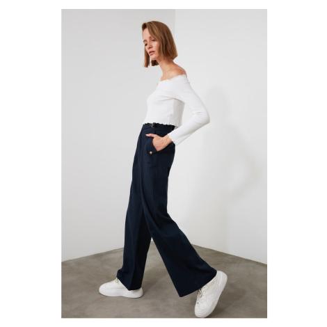 Trendyol Navy Belt Trousers