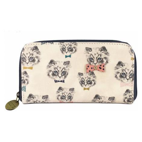 Disaster biele dámska peňaženka Meow Wallet Repeat Print