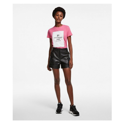 Šortky Karl Lagerfeld Faux Leather Shorts