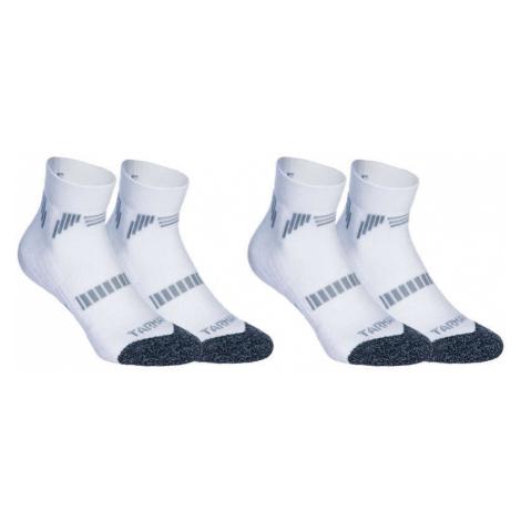 TARMAK 2 páry detských nízkych ponožiek na basketbal pre pokročilých biele BIELA 35/38.