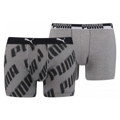 Puma BASIC BOXER 2P čierna - Pánske boxerky