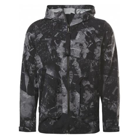 Reebok Sport Športová bunda  čierna / sivá
