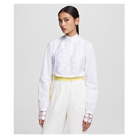 Košeľa Karl Lagerfeld Karl Lace Plastron Shirt