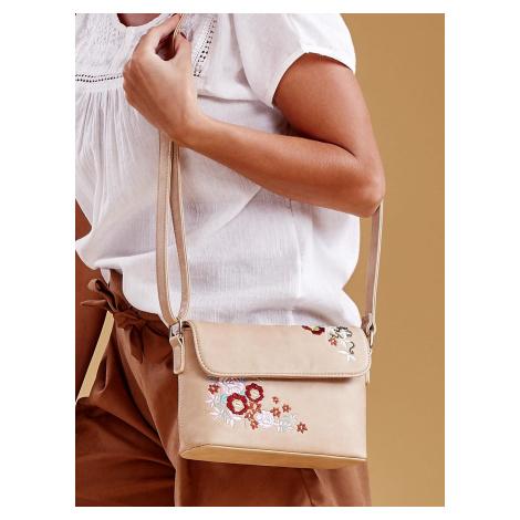 Béžová kabelka s kvetinovým vzorom