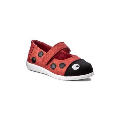 EMU Australia Poltopánky Ladybug Ballet K11613 Červená