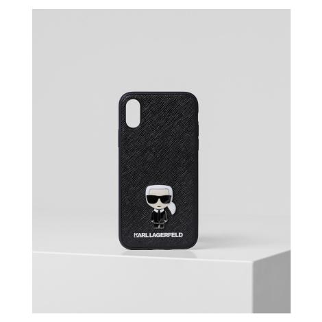 Obal Na Telefon Karl Lagerfeld Ikonik Pin Xs - Čierna