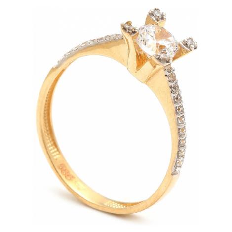 Zlatý zásnubný prsteň YSABEL