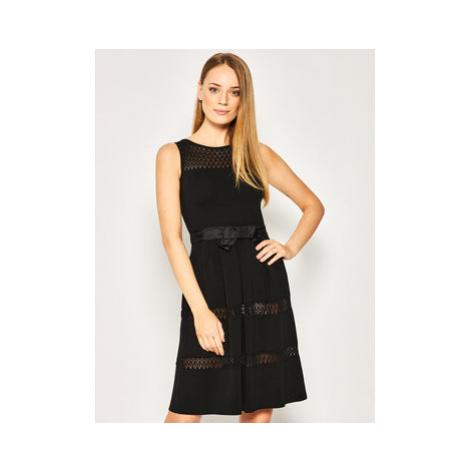 Luisa Spagnoli Každodenné šaty Caramel 3046190 Čierna Regular Fit
