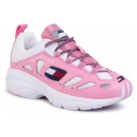 Sneakersy TOMMY JEANS - Heritage Retro Sneaker EN0EN0776 Bubble Pink TPL Tommy Hilfiger