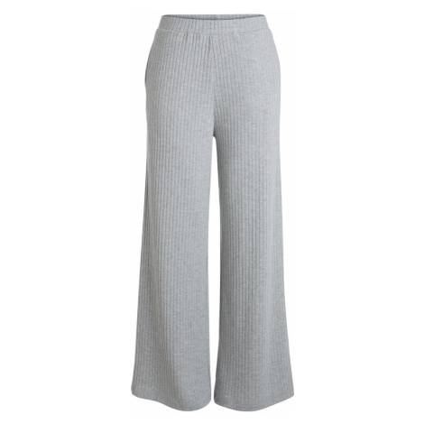 PIECES Nohavice  sivá