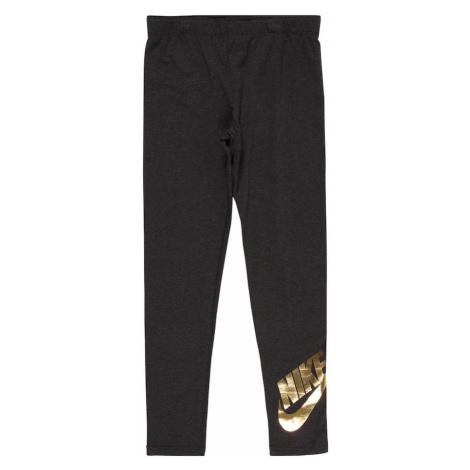 Nike Sportswear Legíny  sivá / zlatá
