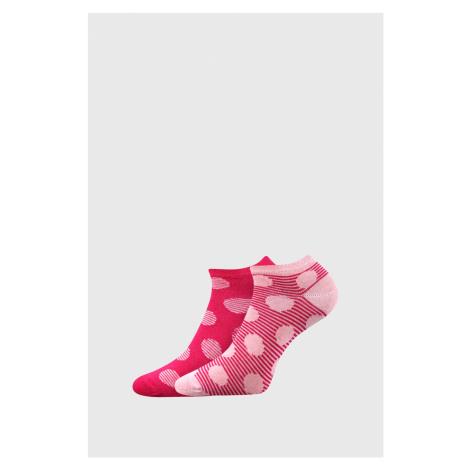 2 PACK dámskych ponožiek Duo ružová Boma