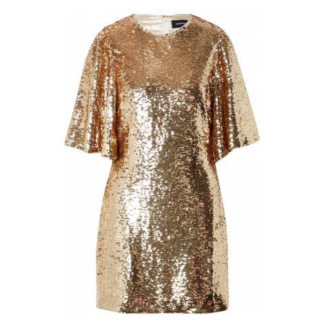 MINKPINK Kokteilové šaty 'RYLEE'  zlatá