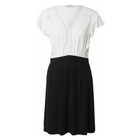 Suncoo Košeľové šaty 'CENDRA'  biela / čierna