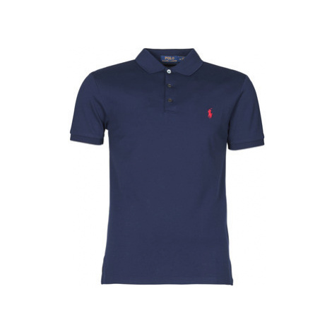 Polo Ralph Lauren POLO CINTRE SLIM FIT EN COTON STRETCH MESH LOGO PONY PLAYER Modrá