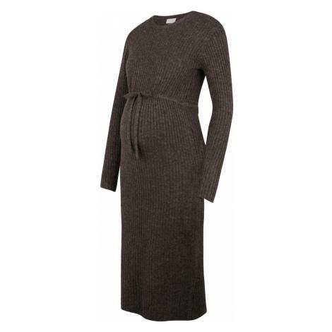 MAMALICIOUS Pletené šaty 'Suna'  hnedá Mama Licious