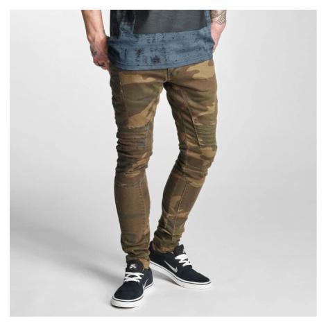 2Y Slim Fit Jeans Brown Camouflage - Veľkosť:30