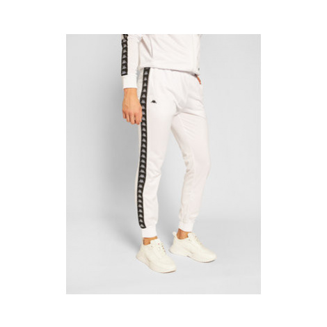 Kappa Teplákové nohavice Helge 308020 Biela Regular Fit