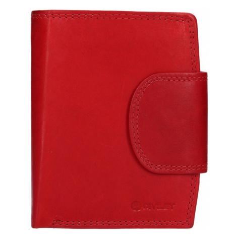 Pánska kožená peňaženka Diviley Luiss - červená