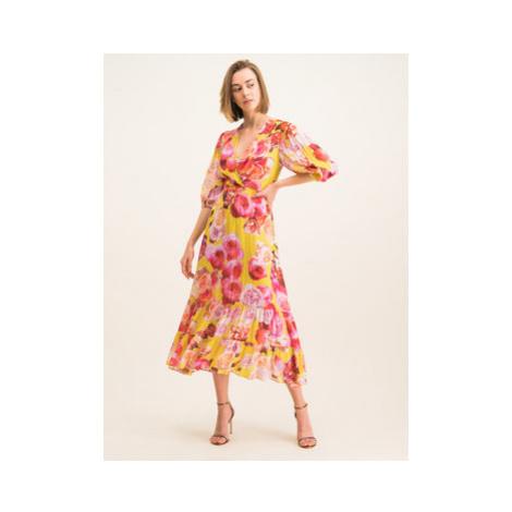 Pinko Letné šaty 20201 BLK01 1G14KD 7932 Farebná Regular Fit