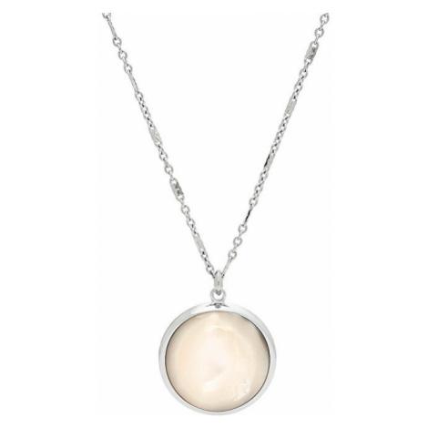 Fossil Krásny oceľový náhrdelník JF02915040