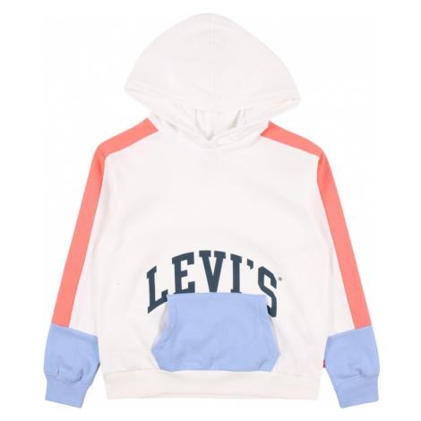 LEVI'S Mikina  biela / pastelovo červená / svetlomodrá / námornícka modrá Levi´s