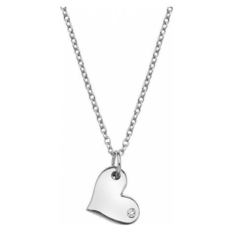Hot Diamonds Strieborný náhrdelník s pravým diamantom Iris DP702 (retiazka, prívesok)