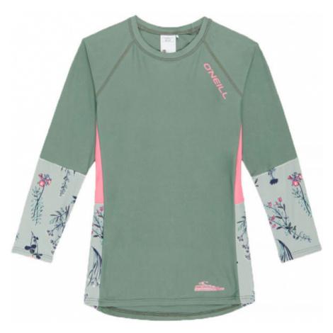 O'Neill PG PRINT L/SLV SKINS zelená - Dievčenské tričko
