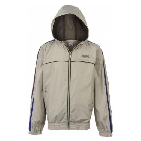 Lonsdale 2 Stripe Wind Runner Jacket Junior Silver/Purple