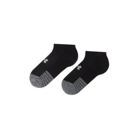 Under Armour Súprava 3 párov kotníkových ponožiek unisex Heatgear No Show Sock 1346755-001 Čiern
